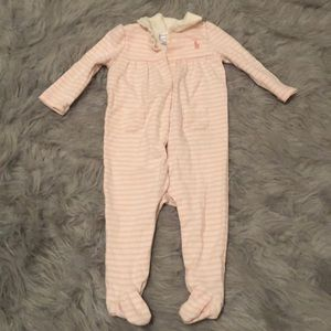 Baby Girls Ralph Lauren Long Sleeve Sleeper